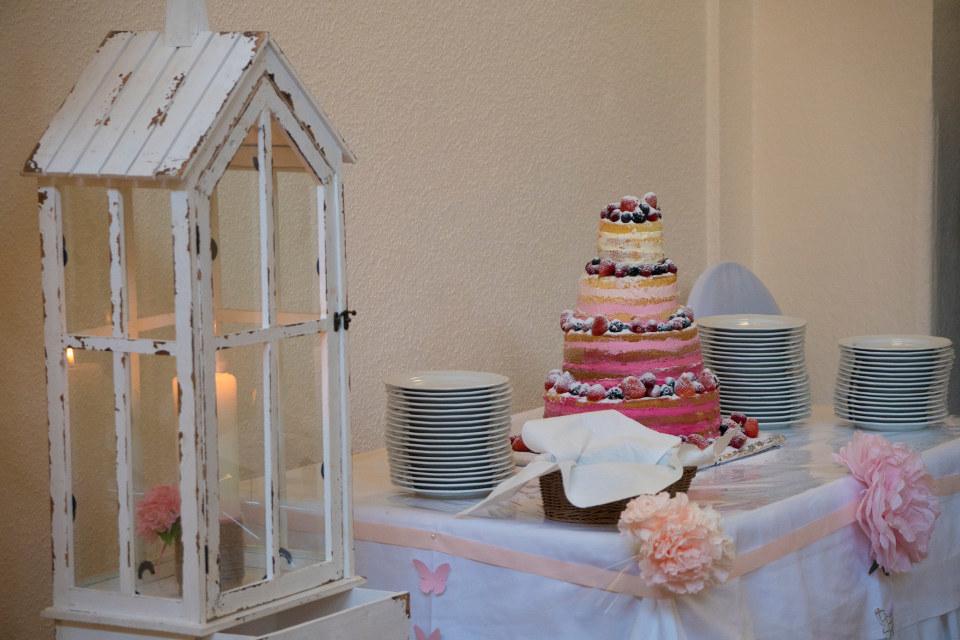 Hochzeitstorte im Restaurant Seeblick Trebus