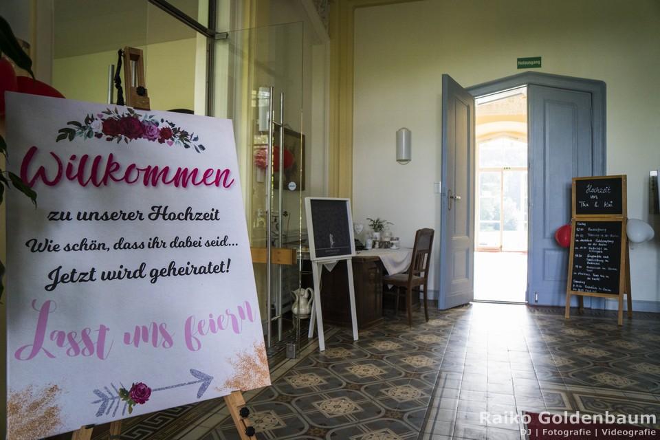 Schloss Kröchlendorff Hochzeit Willkommen