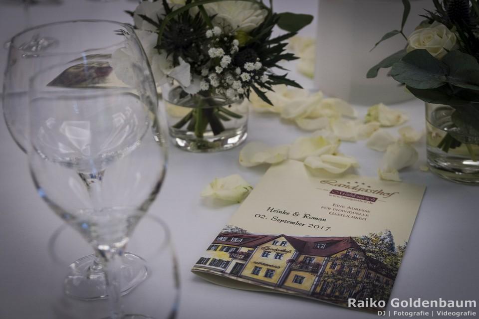Landgasthof zum Mühlenteich Petershagen-Eggersdorf Hochzeitsmenü