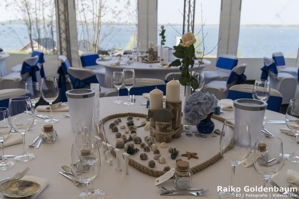 See- und Waldresort Gröbern Hochzeit Tischdeko
