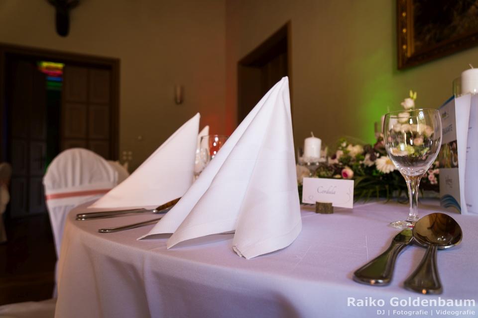 Jagdschloss Letzlingen Hochzeit Tisch