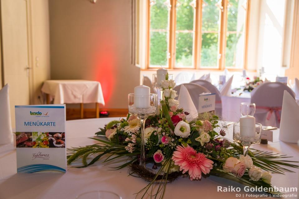 Jagdschloss Letzlingen Hochzeitsfeier Blumen