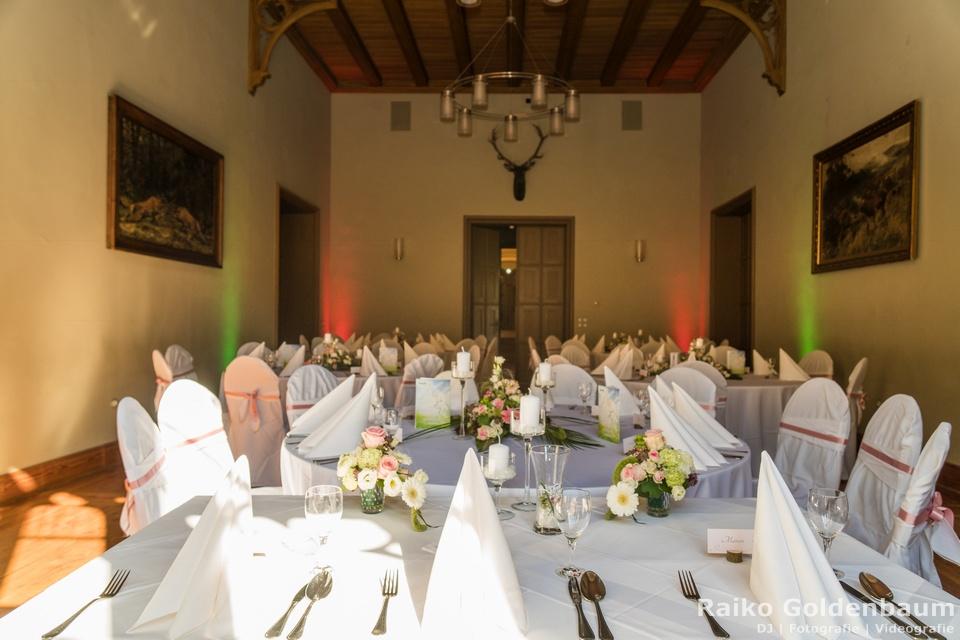 Jagdschloss Letzlingen Hochzeitsfeier Saal