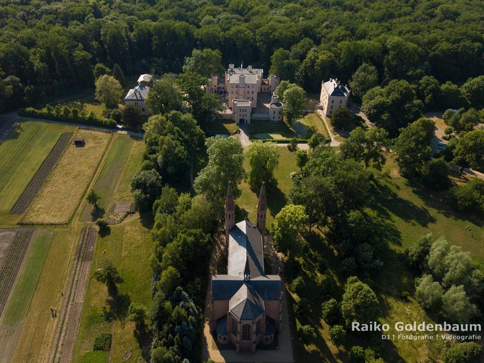 Jagdschloss Letzlingen  Luftbild von oben