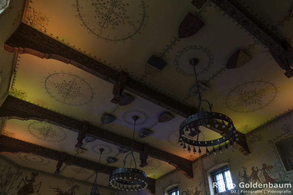 Wappensaal Wartburg Hotel Hochzeit Decke