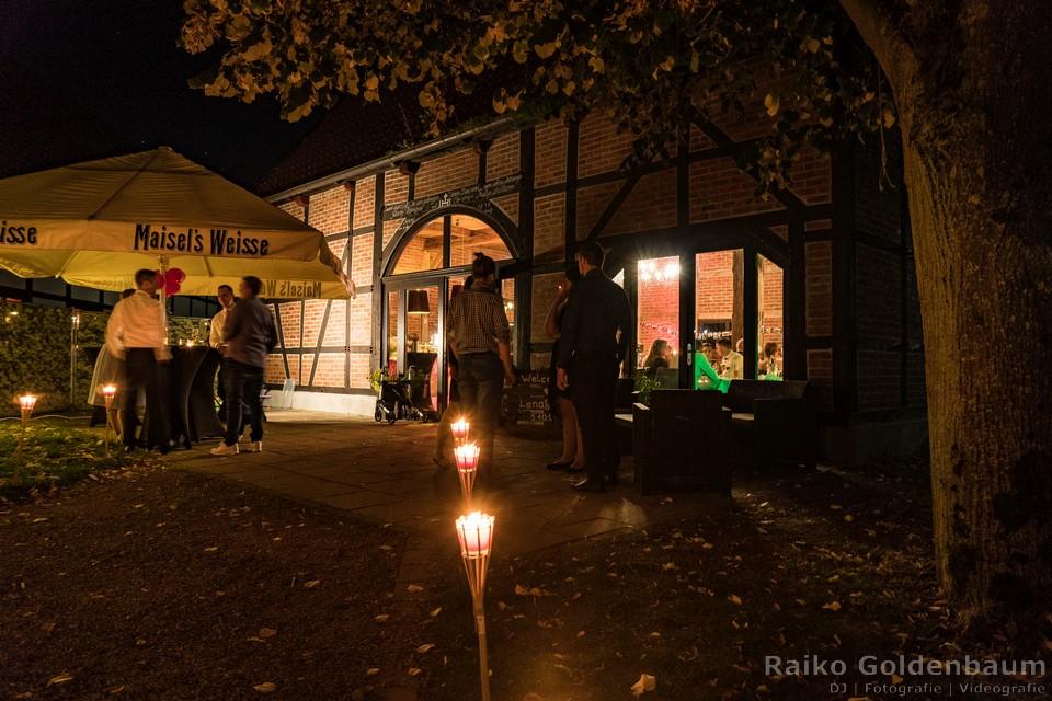 Hochzeitsfeier Gut Lippesee Paderborn Außenbereich